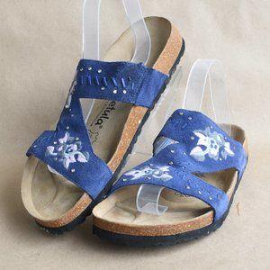 * Birkenstock Betula Zara Blue Embroidered Sandal